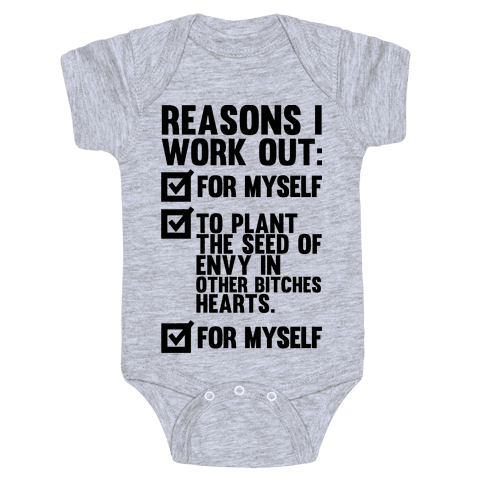 Good Reasons To Work Out Baby Onesy