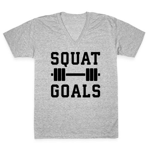Squat Goals V-Neck Tee Shirt