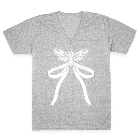 Moth Bow V-Neck Tee Shirt
