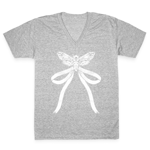 Moth Bow V-Neck Tee Shirt