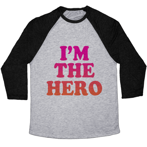 Hero & Comedic Relief (Part 1) Baseball Tee