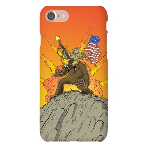 Teddy and Bigfoot: Rough Riders For Life Phone Case