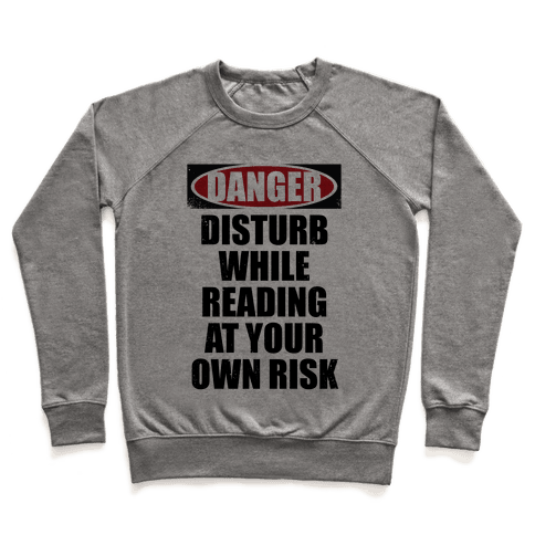 Disturb While Reading At Your Own Risk Pullover