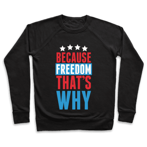 Because Freedom That's Why Pullover