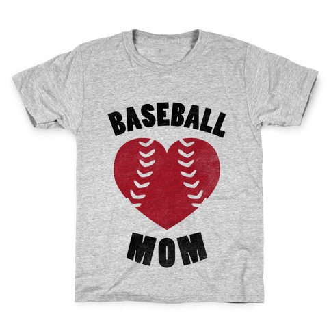 Baseball Mom (Baseball Tee) Kids T-Shirt