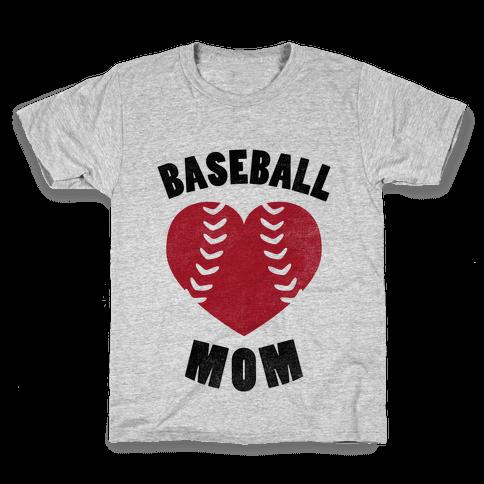 Baseball Mom (Baseball Tee) Kids T-Shirt
