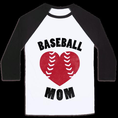 Baseball Mom (Baseball Tee) Baseball Tee