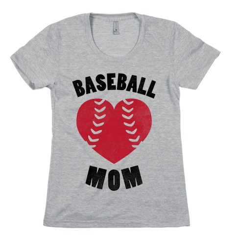Baseball Mom (Baseball Tee) Womens T-Shirt