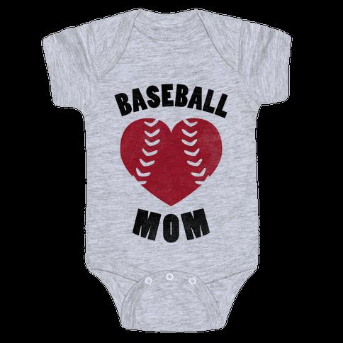 Baseball Mom (Baseball Tee) Baby Onesy
