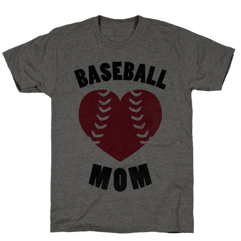 Baseball Mom (Baseball Tee) Mens T-Shirt