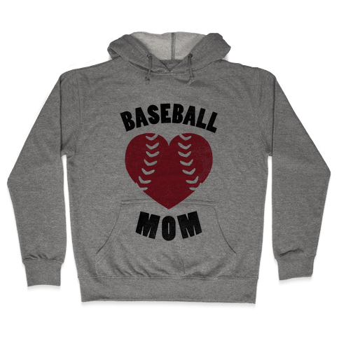 Baseball Mom (Baseball Tee) Hooded Sweatshirt