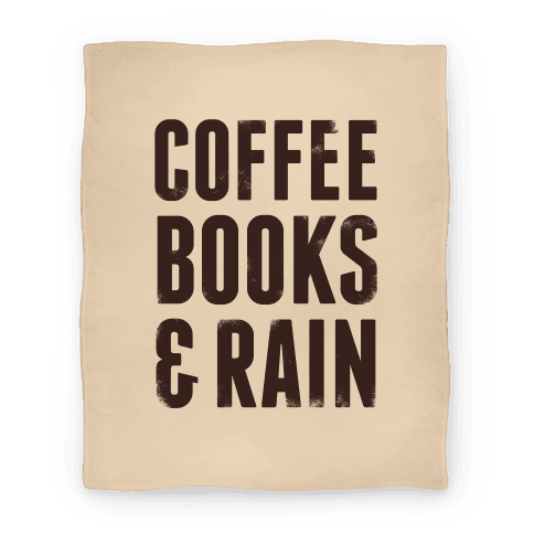 Coffee Books & Rain Blanket Blanket
