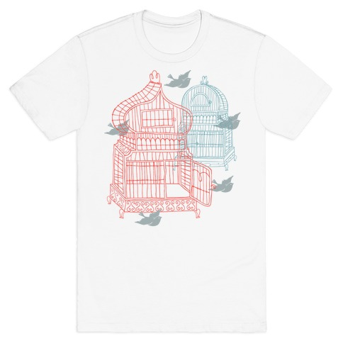 Open Birdcage T-Shirt