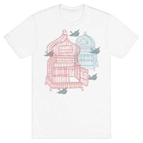 Open Birdcage Mens T-Shirt