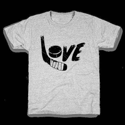 Love Hockey (Distressed)  Kids T-Shirt