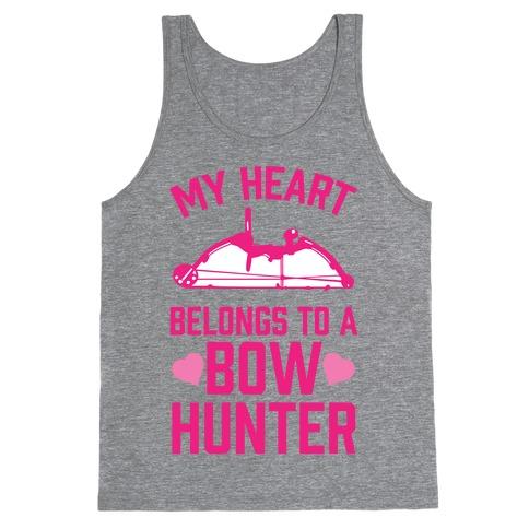 My Heart Belongs To A Bow Hunter Tank Top