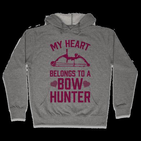 My Heart Belongs To A Bow Hunter Hooded Sweatshirt