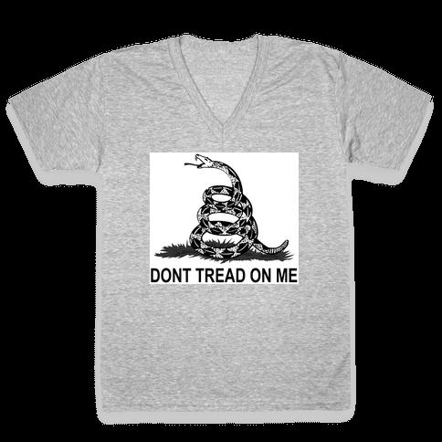 Gadsden Flag V-Neck Tee Shirt