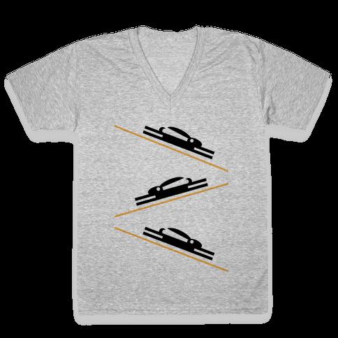 Bunny Slopes V-Neck Tee Shirt
