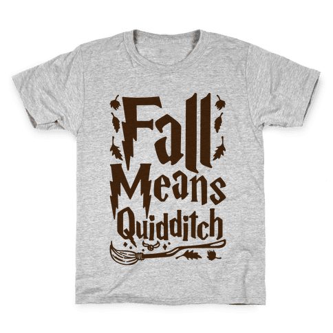 Fall Means Quidditch Kids T-Shirt