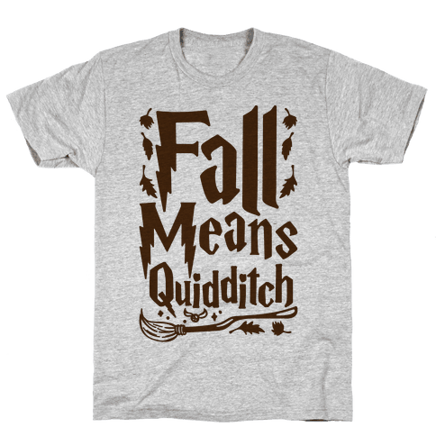 Fall Means Quidditch Mens T-Shirt