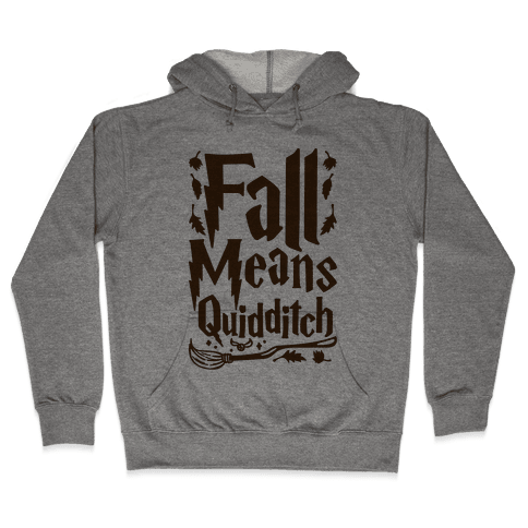 Fall Means Quidditch Hooded Sweatshirt