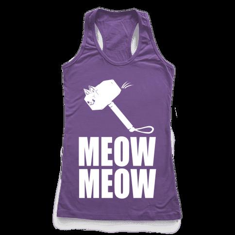 Meow Meow Racerback Tank Top