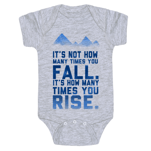 It's Not How Many Times You Fall... Baby Onesy