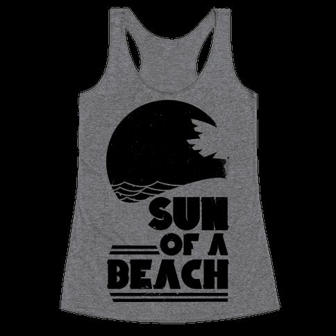 Sun of a Beach Racerback Tank Top