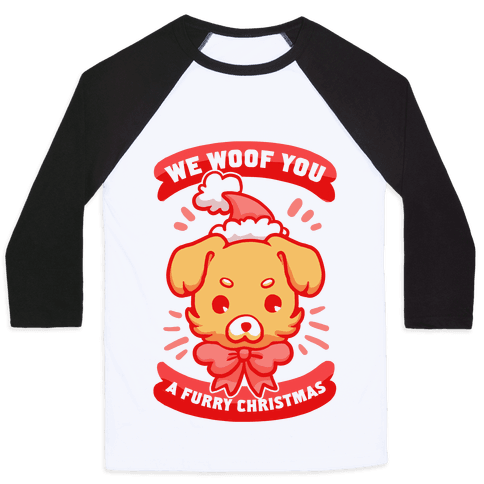 We Woof You A Furry Christmas Baseball Tee
