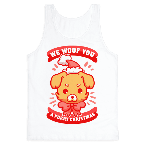 We Woof You A Furry Christmas Tank Top