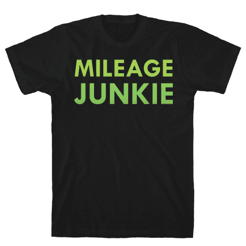 Mileage Junkie Mens T-Shirt
