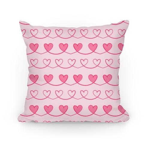 Heart Doodle Pattern Pillow