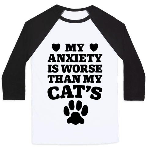 Cat Anxiety Baseball Tee