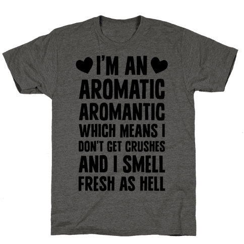 I'm An Aromatic Aromantic Mens T-Shirt