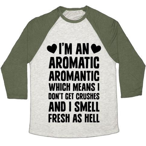I'm An Aromatic Aromantic Baseball Tee