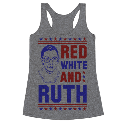 Red White and Ruth Racerback Tank Top