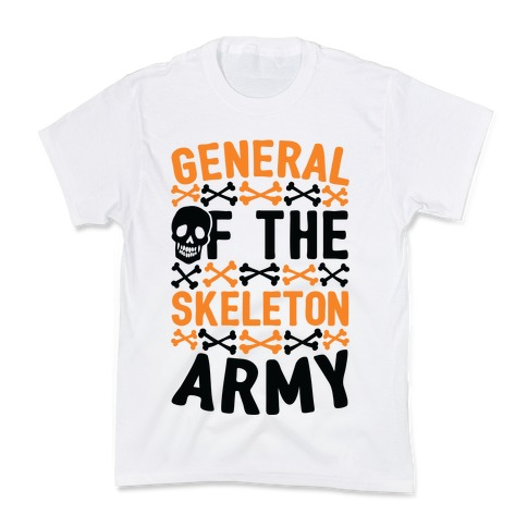 General Of The Skeleton Army Kids T-Shirt