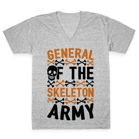General Of The Skeleton Army V-Neck Tee Shirt