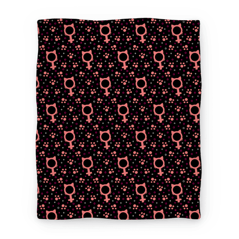 Female Cat Symbol Pattern Blanket