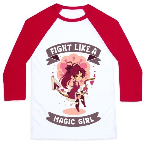 Fight Like A Magic Girl Kyoko Baseball Tee