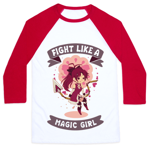 Fight Like A Magic Girl Kyoko Baseball Tee