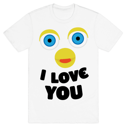Furby Loves You Mens T-Shirt