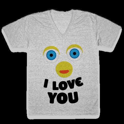 Furby Loves You V-Neck Tee Shirt