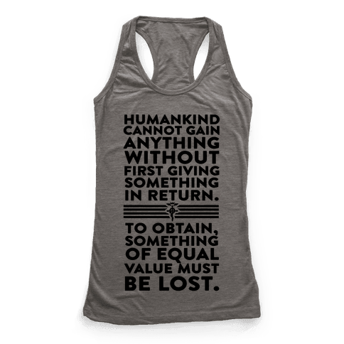The First Law of Alchemy Racerback Tank Top