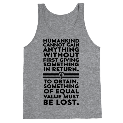 The First Law of Alchemy Tank Top