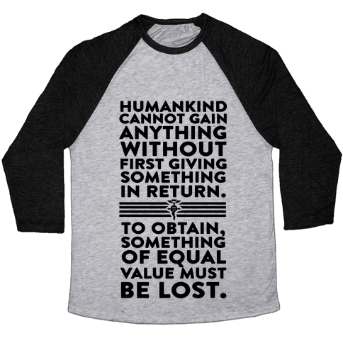 The First Law of Alchemy Baseball Tee