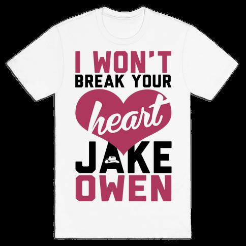 Don't Break His Heart Mens T-Shirt