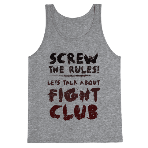 Let's Talk About Fight Club Tank Top