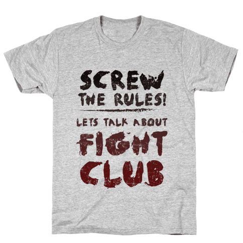 Let's Talk About Fight Club Mens T-Shirt